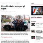 Gazzetta d'Alba: Giro d'Italia in auto per gli alpini